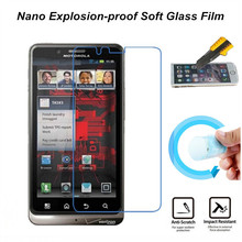 Ultra Clear Nano Explosion-proof Soft Glass Screen Protector Film for MOTO XT875 Droid Bionic