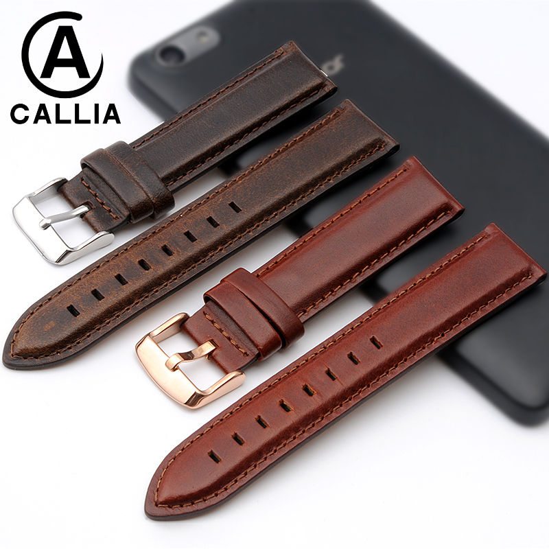 High Quality Genuine Calf Hide Leather For daniel wellington watch Strap Band For DW men &amp;women Accessories Watchband 13MM 18MM<br>
