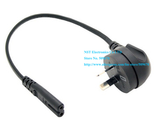 Australia New Zealand Angled 2Pin Male to IEC 320 C7 Female Short Power Cable About 30CM/Free Shipping/10PCS