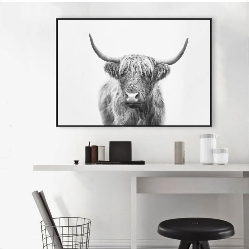 Bull poster wall art print