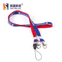 Air China Lanyard with Double Buckles  Blue & Red Color for Aviation Lover Collection