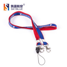 Air China Lanyard with Double Buckles Blue & Red Color for Aviation Lover Collection(China)