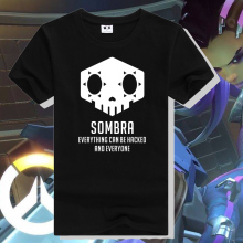 Watch over OW t shirt OW new hero SOMBRA icon printing tee shirt OW final skill series t shirt OW fans shirt ac496