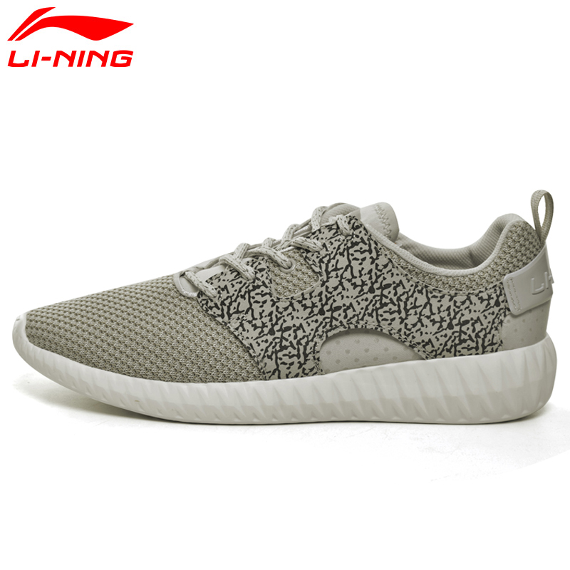 Li-Ning Mens Stylish Walking Shoes Textile Soft Breathable Sneakers Fitness Support LiNing LiNing Sports Shoes AGLM005 YXB047<br>