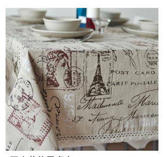 Eiffel Tower French linen tablecloths eco-friendly tea table cloth drape universal custom table cloth(China)
