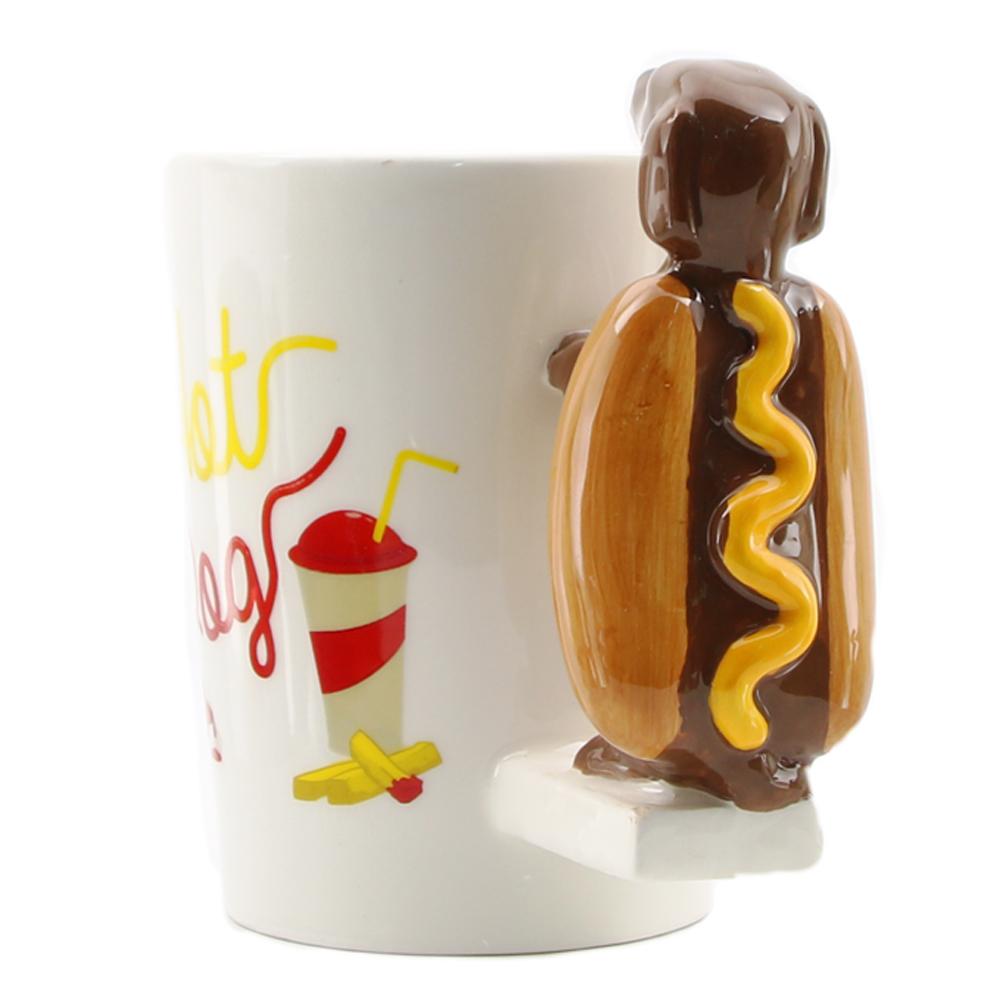 Unique Sausage Hot Dog Funny Fast Food Tea Coffee Mugs