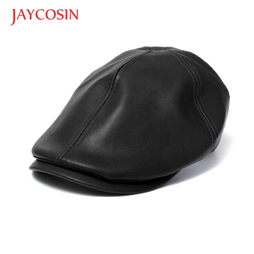 JAYCOSIN Hats Beret-Cap Faux-Leather Women Vintage Fashion Unisex 160418 title=