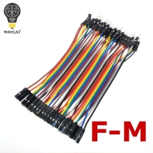 WAVGAT 40pcs 10cm 2.54mm 1pin 1p-1p male to female jumper wire Dupont cable for arduino