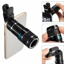 Mobile Phone Lens 12X Zoom Telephoto Lentes Camera Lens Telescope With Clip For iphone 4 5 5c 5s SE 6 6S 7 Plus Smartphone Lents(China)