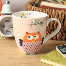 free shipping/owl Cartoon Ceramic cup and Image Cup Cute mug  large capacity  cup of coffee water milk
