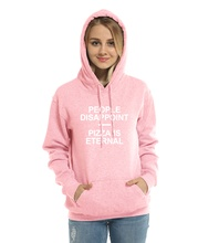 Women's Sweatshirt Letter Print PEOPLE DISAPPOINT PIZZA ETERNAL Casual Hoodies 2017 Hot Fleece Winter Female Hoody Crossfit Kpop(China)