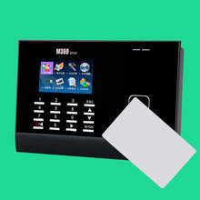 ZK M300PlusTCP/IP 125Khz 13.56Mhz Proximity Rfid Card Time Attendance Punch Card Time clock Color Screen