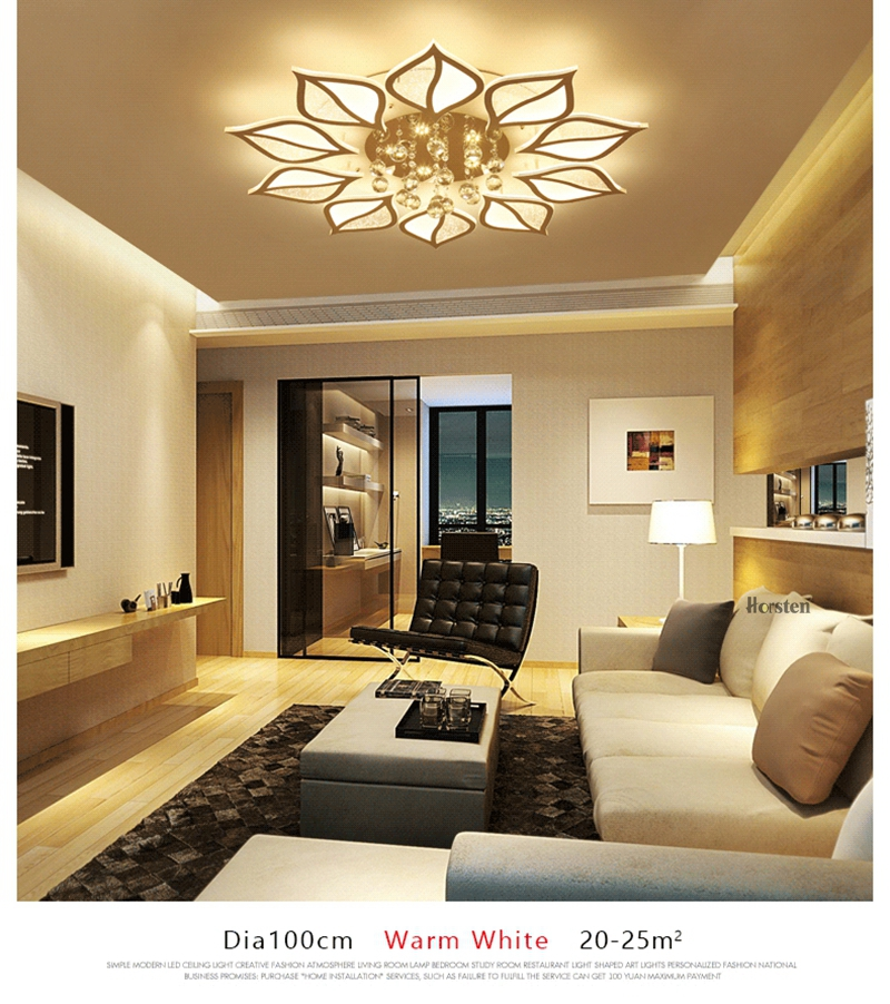 Modern Luxury Crystal LED Ceiling Chandelier Lights With Remote Control Living Room Bedroom Light Acrylic Ceiling Lamp Home Lighting 220V (4)