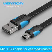 Vention Mini USB cable 25cm 50cm 100cm 150cm 200cm mini usb to usb data sync charger cable for MP3 MP4 Camera HDD mobile phone(China)