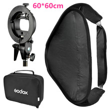 "Buy Godox 60*60cm 24*24"" Flash Diffuser Photo Studio Softbox S-type Bracket Bowens Mount Holder Canon Nikon Speedlite Light for $51.98 in AliExpress store"