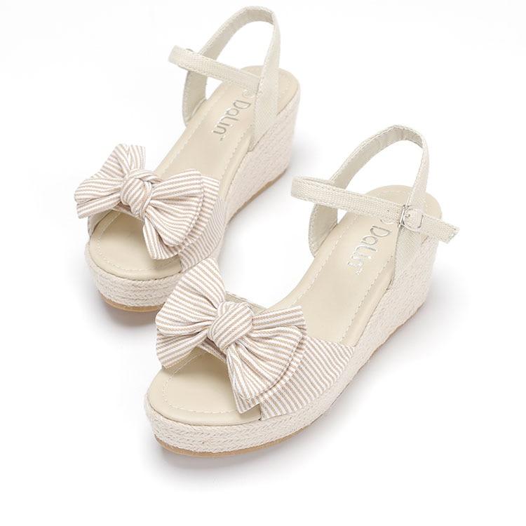 Women high heels sandal wedges sandals shoes Straw Casual platform Denim shoes sy-953<br><br>Aliexpress