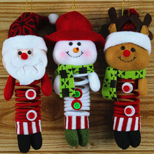 Christmas Doll Santa Claus/Snow Men/Deer Cute Plush Doll For Christmas Party Tree Accessories For Kids Best Gift(China)