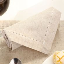 6PCS/LOT Hemstitch Napkins Linen Napkins Embroidery Napkins Custom Napkins 45*45CM(18x18 inchs) For Party Wedding