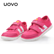 UOVO breathable children shoes summer sport shoes for girls and boys flat kids fashion sneakers Boys mesh shoes(China)