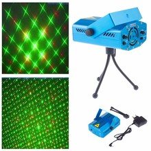110V~240V Red & Green Meteor Laser Stage Lighting Mini Laser Projector for Party DJ Disco(China)