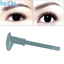 Tattoo accesories 1PC Microblading Reusable Makeup Measure Eyebrow Guide Ruler Permanent Tools u61025(China)