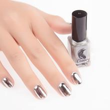 Brand New 6ml Mirror Effect Chrome Metallic Silver Gold Nail Polish 7 colors Nail Varnish Gel