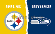 Pittsburgh Steelers flag VS Seattle Seahawks 100D polyester digital printed banner 150x90cm(China)