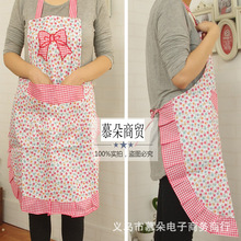 New promotional Korean version of the new bow lovely floral embroidery sleeveless stain aprons wholesale direct home(China)