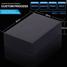 58*24*80 mm hot saller Small black Extruded Aluminum Enclosure For Electronic