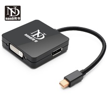 Mini dp to hdmi dvi dp Converter Multi-function 3 in 1 Thunderbolt Mini Displayport to DVI HDMI DP Adapter  For MAC- pro AIR