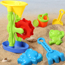 6pcs Children Beach Sand Play Toys Sand Mold Shovel Hourglass Watering tools Summer beach outdoor toys baby bath toys