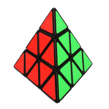 Brand New Shengshou Triangle Pyramid Plastic 98mm 3x3x3 Pyraminx Speed Magic Cube Puzzle Educational Toys Gift For Children Kids(China)