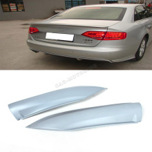 Promotional A4 B8 Sl ine Style PU Unpainted Grey Primer Car Splitters +Auto Rear Lip Diffuser For Audi 09UP(Fit A4 B8 Non Sline)