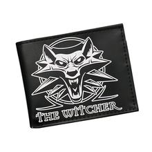 3D Wolf Head Embossing Game Wallet The Witcher Wallet Women Men Animal Purse Credit Card Holder Money Dollar Bag Anime Wallets