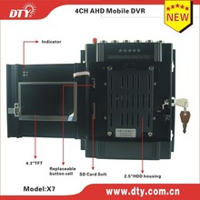 DTY X7G built-in 4.3 inch LCD 4CH AHD vehicle DVR boot record HDD/SSD MDVR with GPS(China)