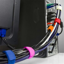 6pcs cable ties strap power wire colorful nylon plastic tie strap for Lan cable power wire of computer and TV