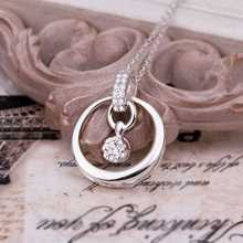 Free Shipping 2016 silver pendant necklace Circle Round Crystal perfume women floating charms HBN172