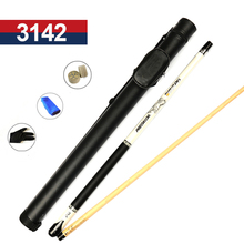 Max Weight 21 oz Pool Cue Billiard Stick 13mm/11.5mm Tips Black/White Color Pool Cues Case Set Made In China(China)