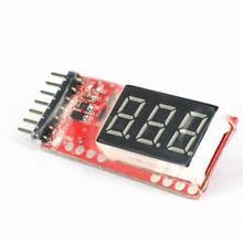 10PCS/Lot 2S-6S 7.4V-22.2V Li-Po Battery Voltage Indicator Checker Tester