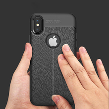 Phone Cases For iPhone X Case New Luxury Ultra-Thin Soft TPU Leather Design Cases For iPhone 6 7 Case 6 7 Plus 6plus 5 5S Cover