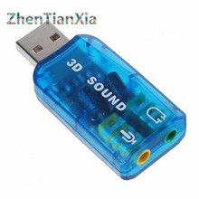 Hot! USB Sound Card USB Audio 5.1 External USB Sound Card Audio Adapter Mic Speaker Audio Interface For Laptop PC MicroData