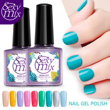 Sexy mix 9ML Colorful Gel Polish UV Nail Gel Polish Long Lasting Led Nail Polish Lacquer Need Base Coat Gel Polish UV Nail Glue