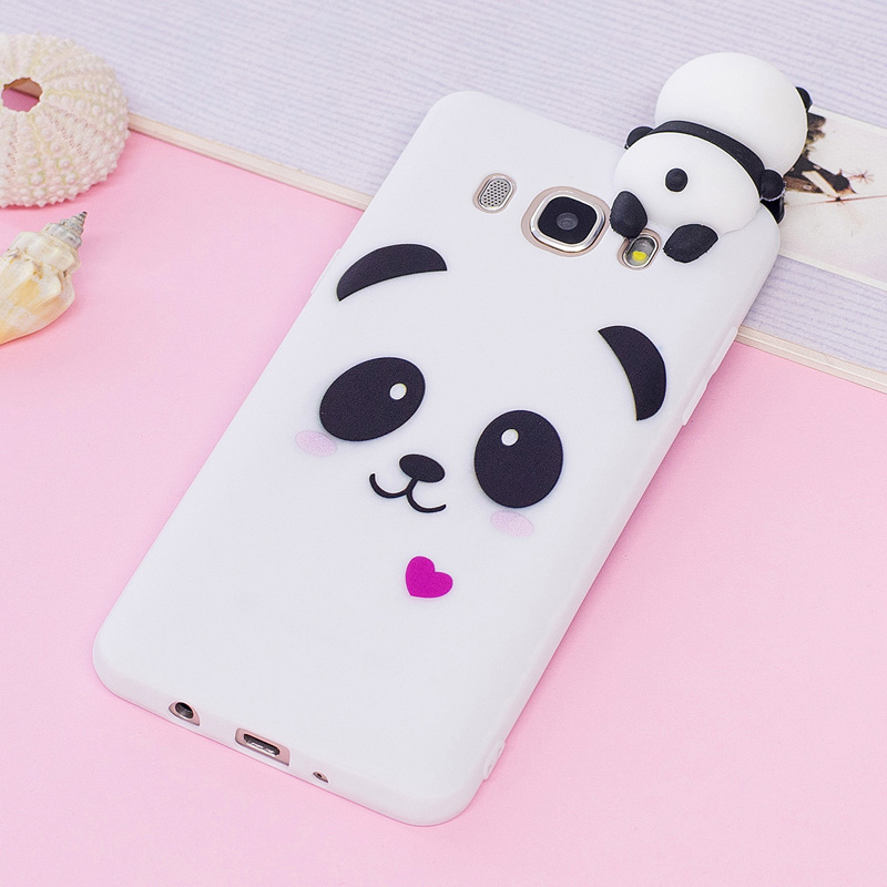 Case Coque Samsung Galaxy J5 2016 Cover Samsung J510 Case 3D Cartoon Panda Unicorn Samsung Galaxy J5 2016 J510 Case