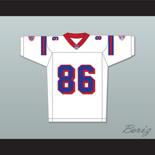 David Denman Brian Murphy 86 Washington Sentinels Away Football Jersey The Replacements Includes League Patch(China)