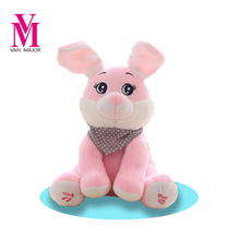 Peek A Boo Rabbit Stuffed Animals & Plush Rabbit Doll, Play Music Rabbit Educational Anti-stress Electric Toy For Baby