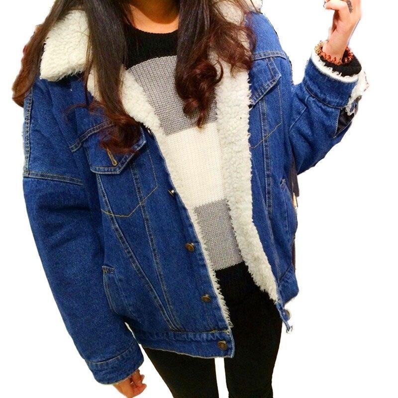 New autumn and winter thick lambs wool denim jacket female Korean Slim plus cotton velvet jacket wild short paragraph wt0151Одежда и ак�е��уары<br><br><br>Aliexpress