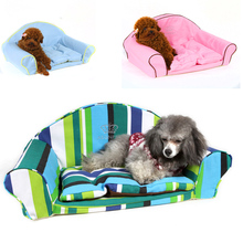 Luxury Dog Sofa Bed For Puppies Small Dogs Animals Crown Autumn Winter Warm Senior Chihuahua Yorkshire Pet Cats Cushion Products(China)