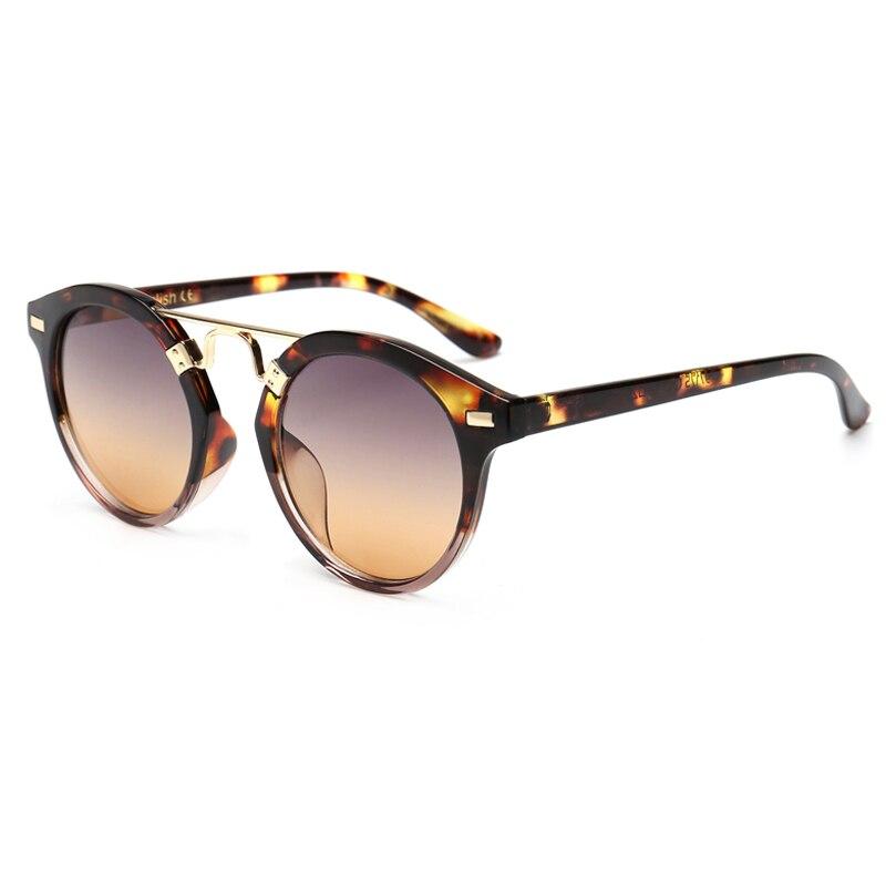2017 Occhiali Da Sole Donna Di Marca Famosa Brown Vintage Round Sunglasses Anti-Reflective Travel Occhiali Rotondi With Box <br><br>Aliexpress