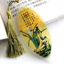 natural leaf vein book markers stationery items book mark office school supplies book marks Graduation Black color Party Favor(China)