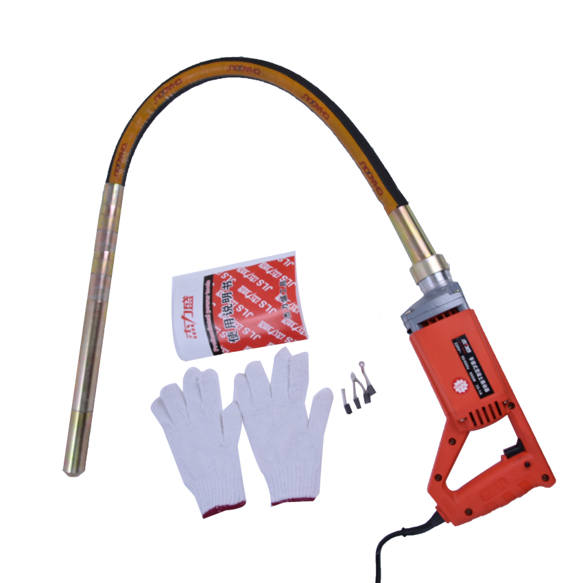 VIBRATOR CONCRETE 35 MM STABLE VOLTAGE 800 W SINGLE HANDLE ENGINE Construction Tools 4500r/min concrete vibrator<br>
